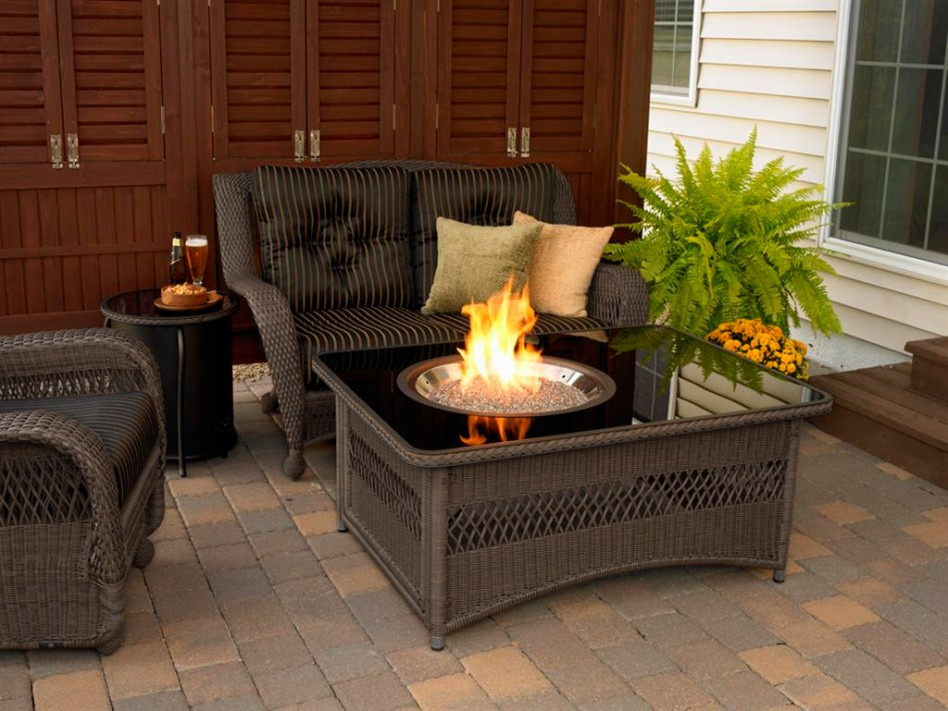 furniture-mind-blowing-outdoor-living-room-decoration-using-rectangular-dark-brown-wicker-outdoor-coffee-table-fire-pit-along-with-round-black-outdoor-side-table-and-dark-brown-wicker-ou