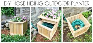 hose hiding planter horizontal collage tml