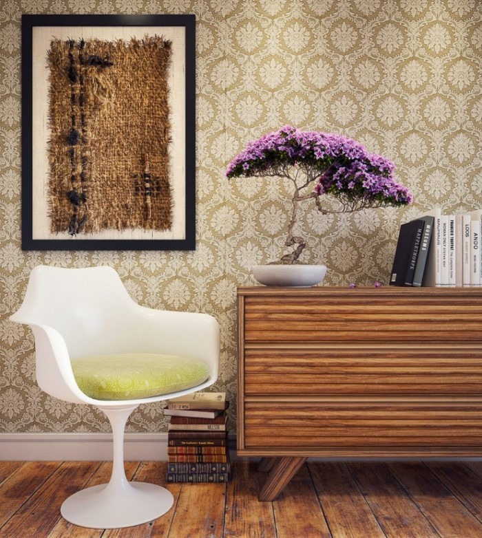 Kaiman3D-Organinc-framed-materials-printed-wallpaper-bonsai-styling-700x782