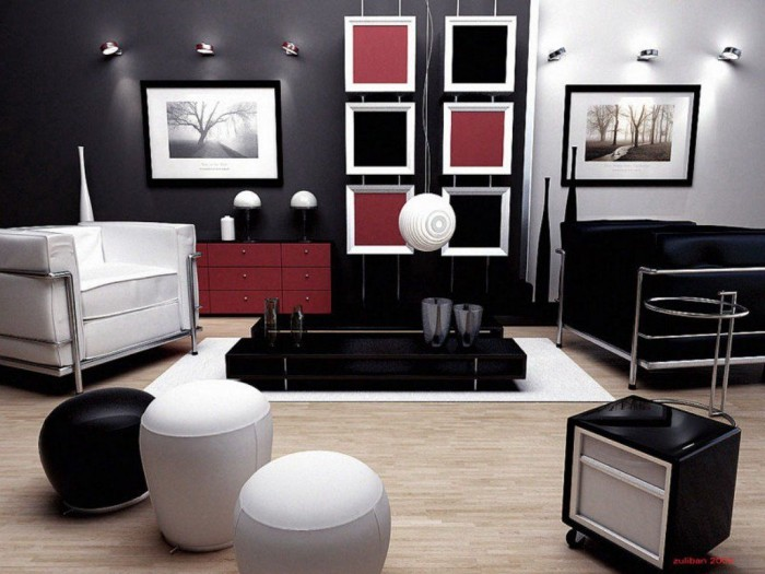 Monochrome-and-red-modern-living-framed-tree-prints-700x525
