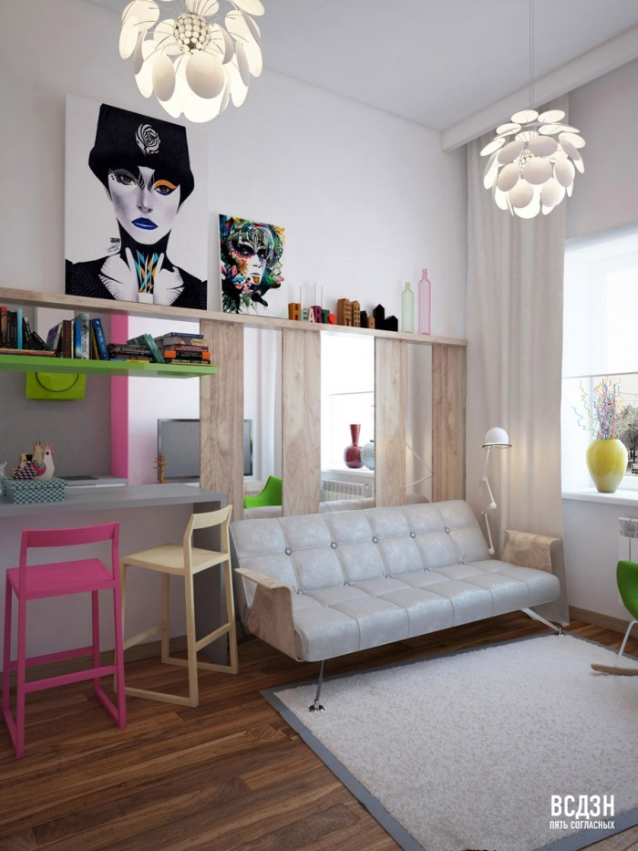Natalya-Nazhimova-pop-of-colour-with-popart-living-workspace-700x933