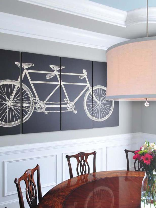Segemented-Bycicle-Print-Painting-Dining-Wall