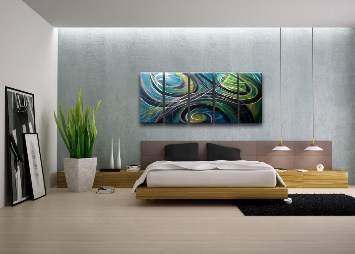 modern-bedroom-tranquil-segmented-feature-painting-700x501