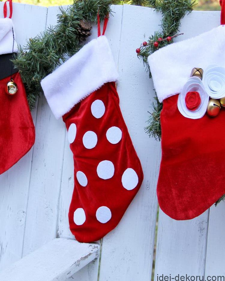 How to Embellish a Standard Christmas Stocking