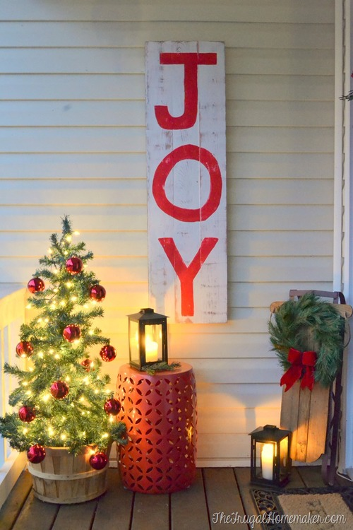 Rustic JOY Christmas Sign