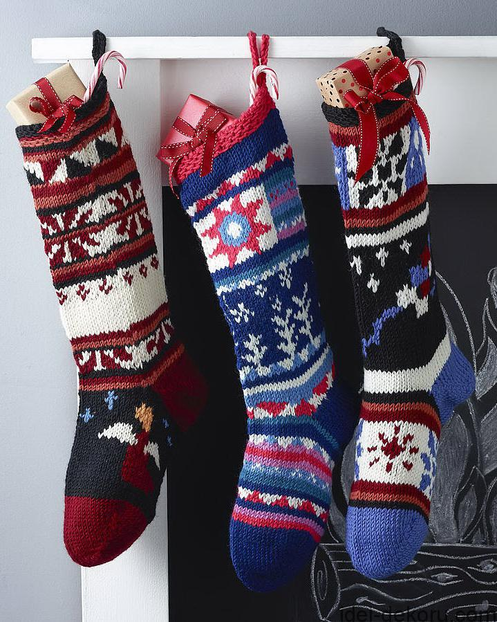 Using A Knit Christmas Stocking