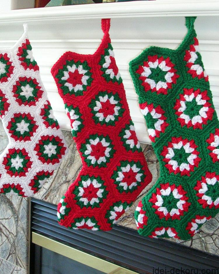 Crochet Christmas Stocking Custom Decorating Ideas