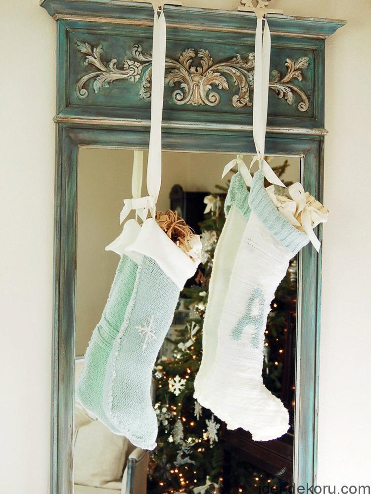 Don't toss that old sweater. Instead, repurpose it as custom stockings for the entire family.