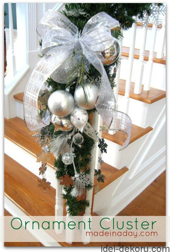 Ornament Cluster - This is so beautiful for a staircase.