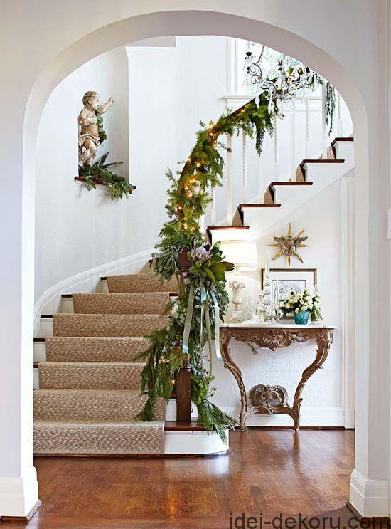 Gorgeous and fragrant garland of magnolias, cedar boughs, and lavender thistle.