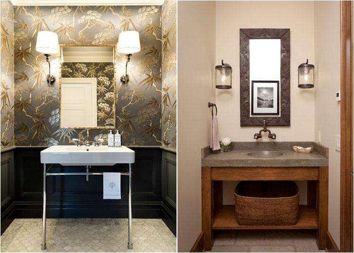 Інтер'єр туалетної кімнати від Karen Aston Design і Snake River Interiors