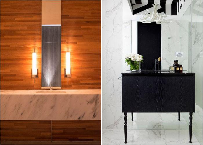 Інтер'єр туалетної кімнати від NIMMO American Studio For Progressive Architecture и James Dawson Interiors