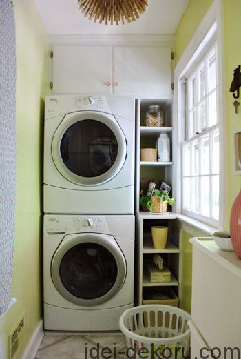 small-laundry-room-with-stacked-washer-and-dryer-Young-House-Love
