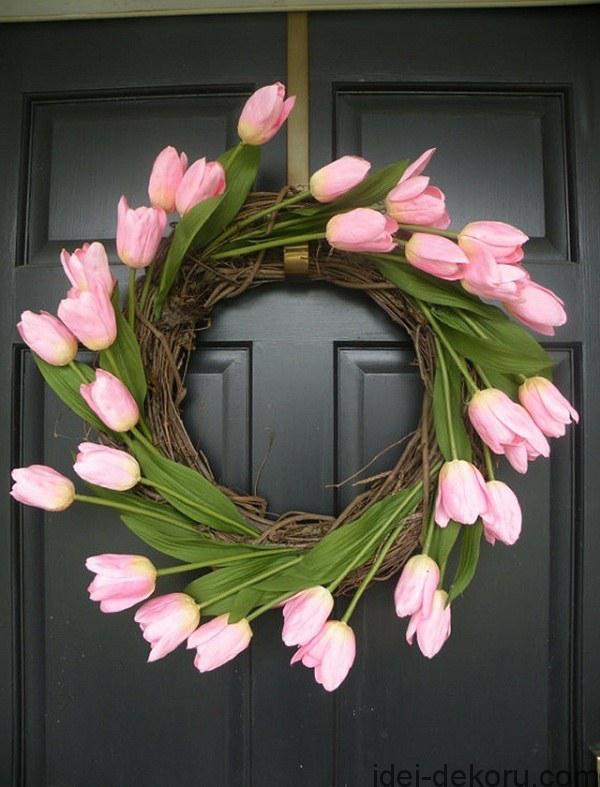 DIY-front-door-easter-wreath-tender-pink-tulips
