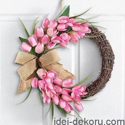 Pink-Spring-Tulip-Wreath-Easter-Door-Decor