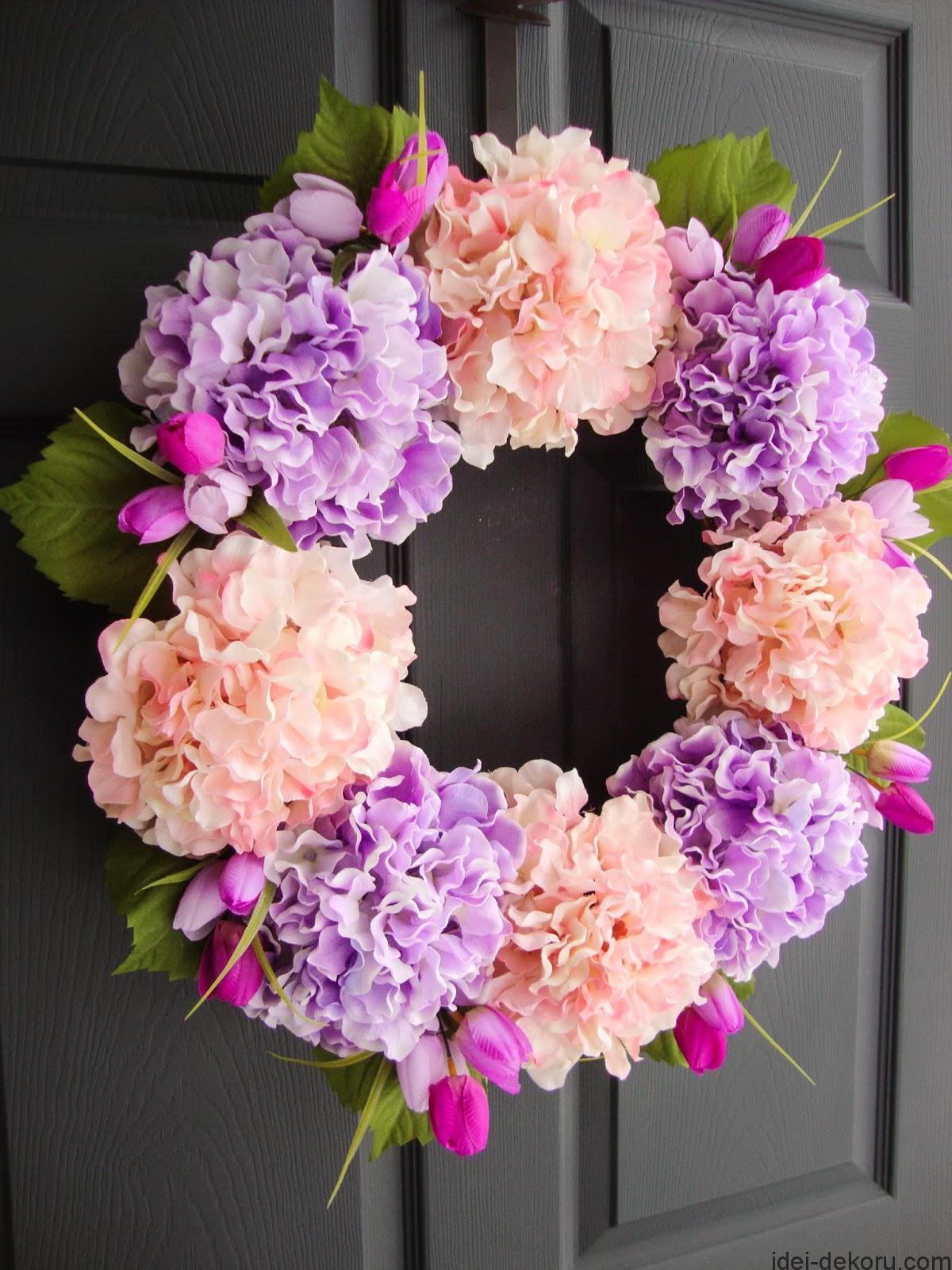 Purple & Pink Hydrangea Wreath 1 (2 of 1)