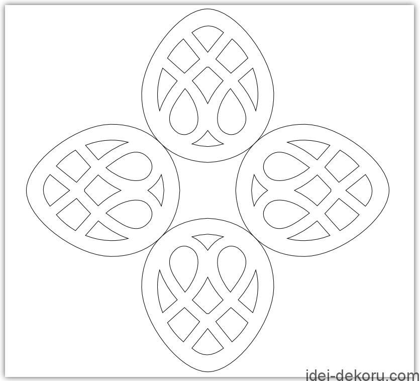 Вытынанки к пасхе шаблоны и схемы