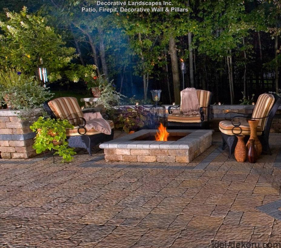 Backyard-Oasis-Patio-Firepit-Decorative-Wall-and-Pillars-MA