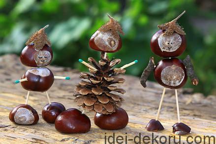 figurines-chestnuts-acorns-pinecones