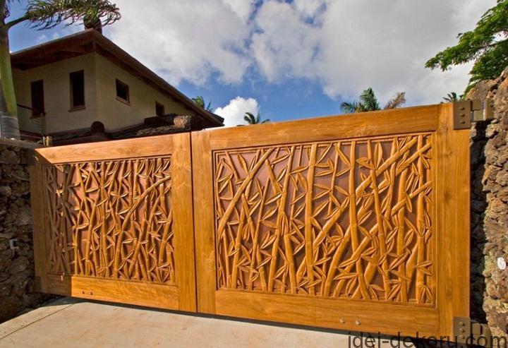 innovative-wood-gates-with-bambo-theme-design-ideas