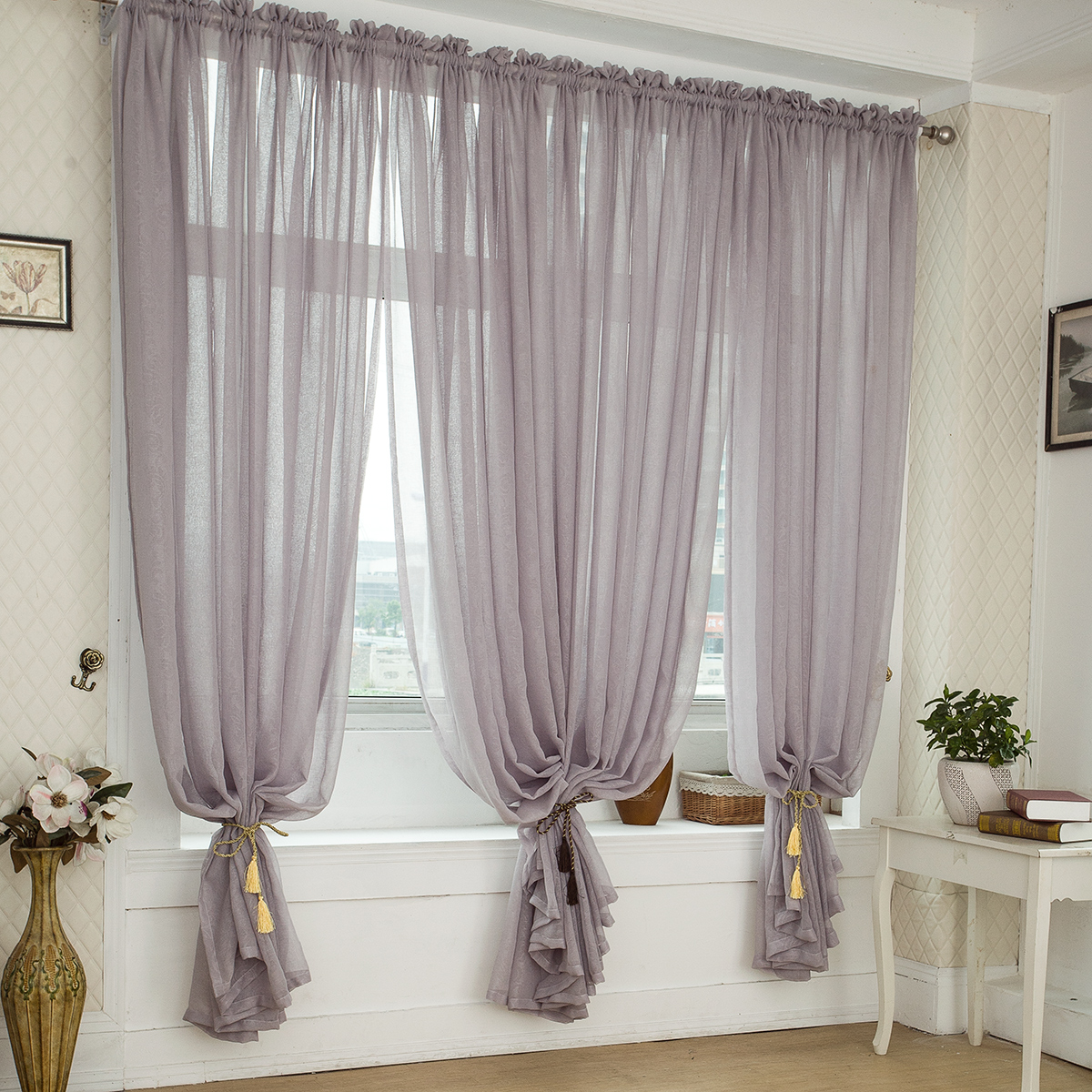 free-shipping-quality-balcony-window-linen-tulle-fabric-finished-product-sheer-curtain-panel