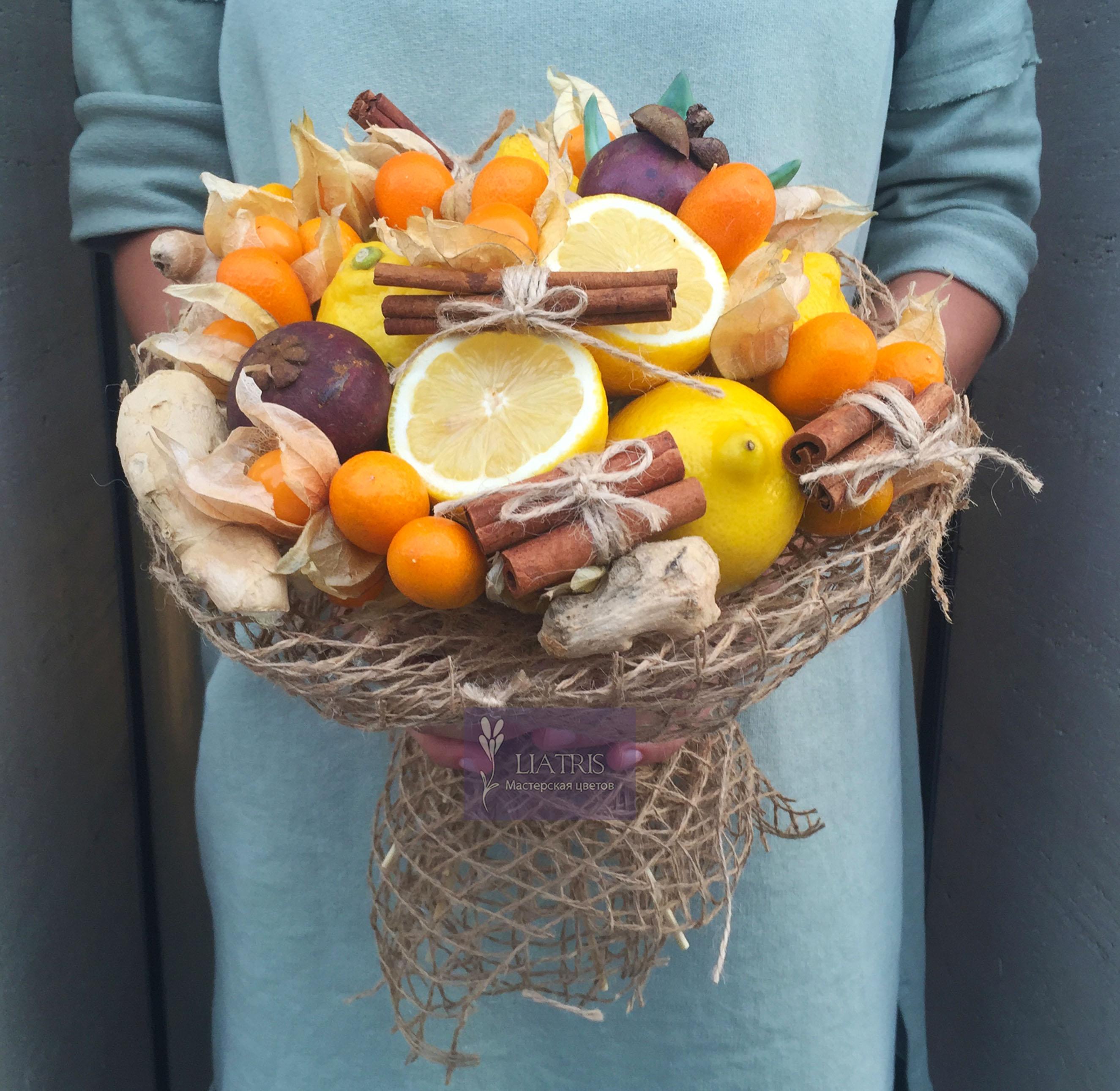 Букет из лимонов своими руками