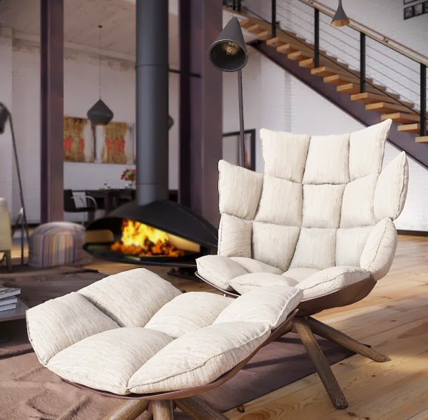 rip3d-industrial-loft-deconstructed-quilted-eames-style-chair-in-open-plan-fireplace-living-600x589