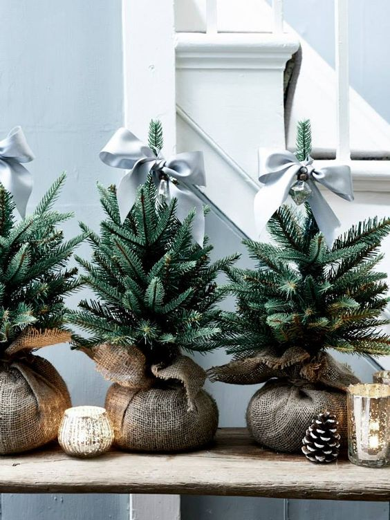 04-a-trio-of-fir-trees-in-burlap-grey-bow-toppers