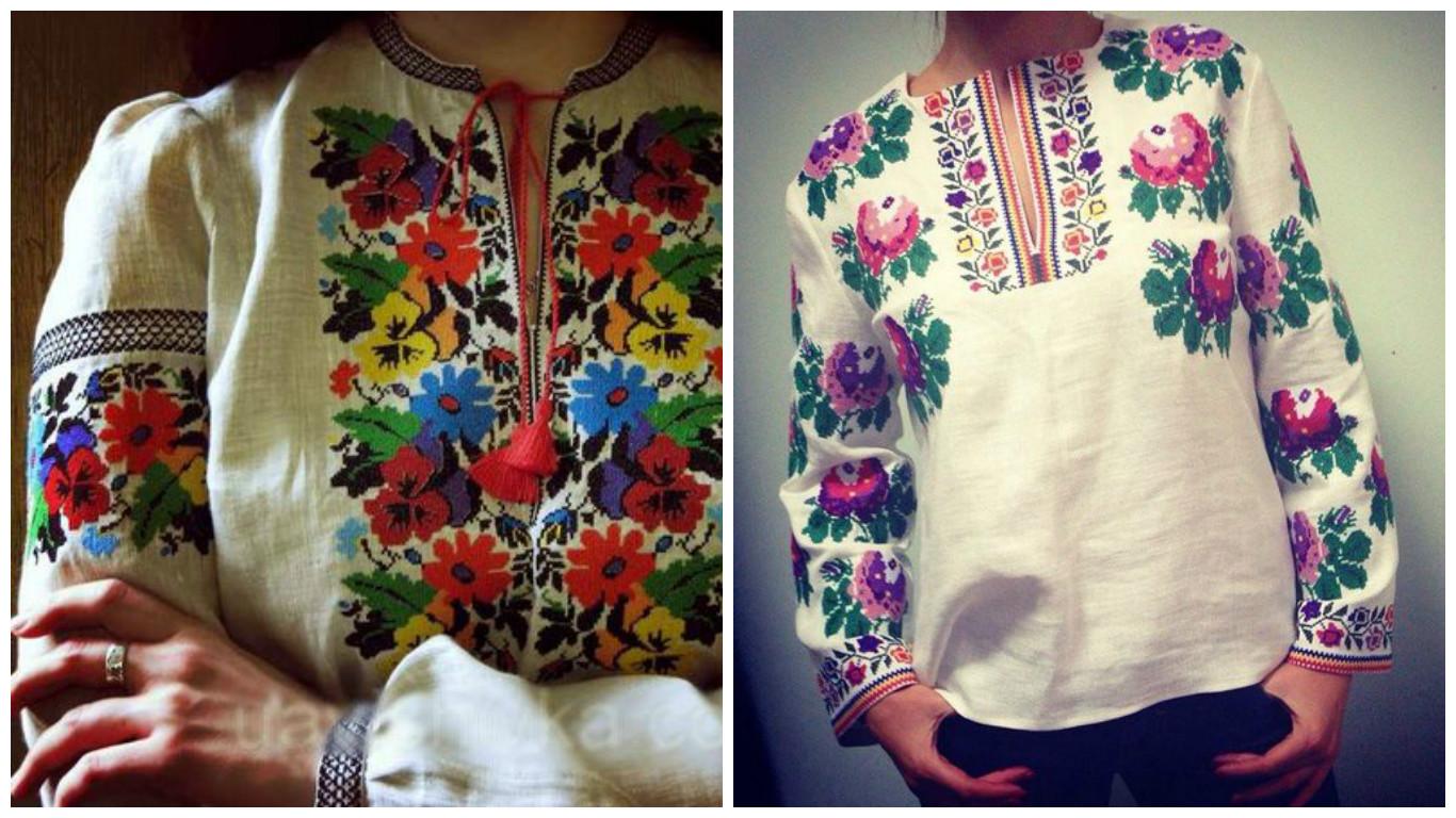 Борщівська вишивка  схеми та елементи жіночих сорочок  009aa09f2aa32