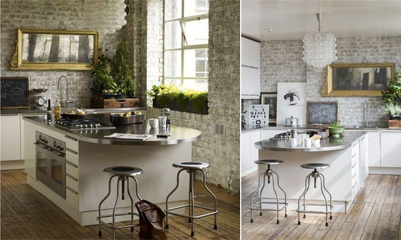 Комнатные-растения-на-кухне-в-стиле-лофт