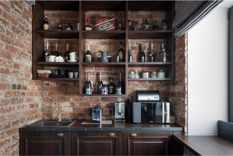 Маленькая-кухня-в-стиле-лофт-2