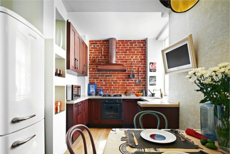 Отделка-стен-в-интерьере-кухни-в-стиле-лофт