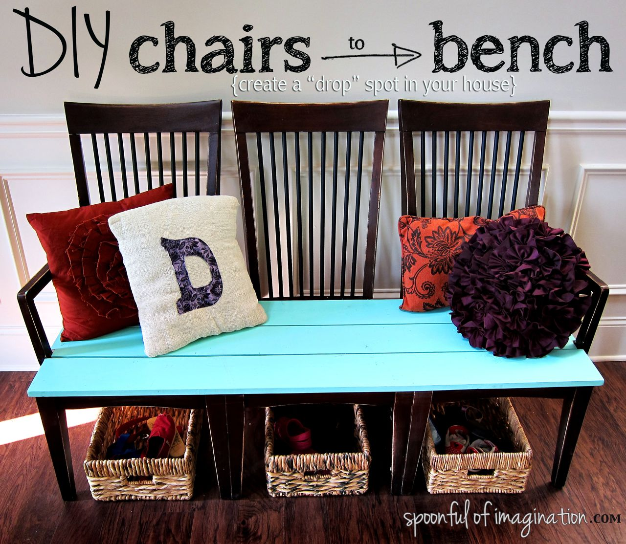 DIY-chairs-to-bench-makeover