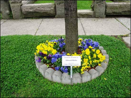Flower-border-for-memorial-
