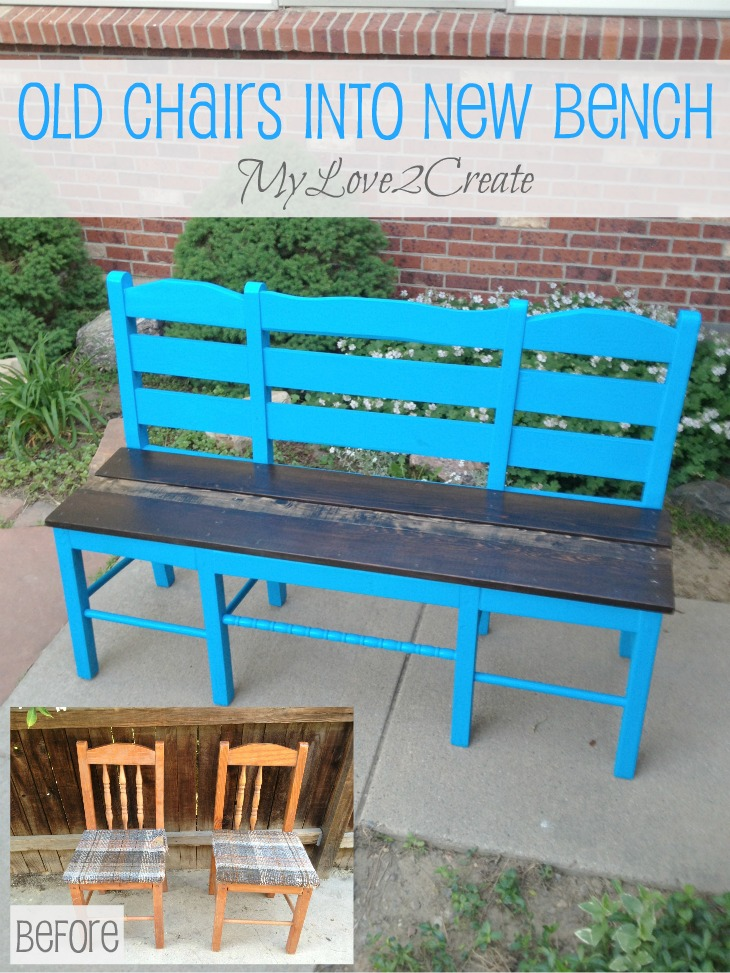 MyLove2Create, pin Old chairs into new bench