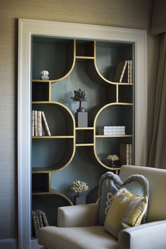 WASHINGTON DC - APRIL 3: Book shelf detail in the Master Bedroom in the 2013 DC Design House in Washington DC, April 3, 2013. (Photo by John McDonnell/The Washington Post)