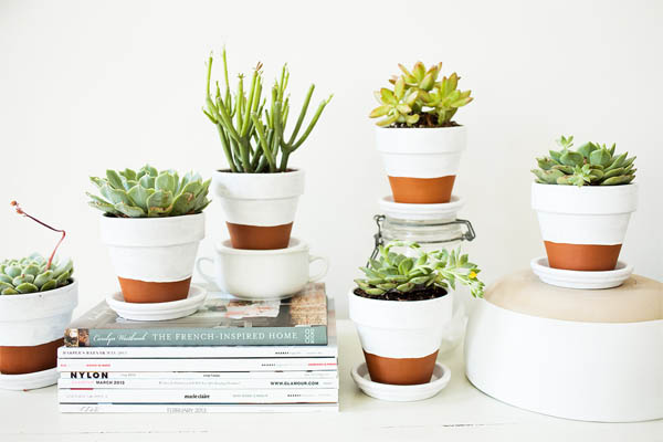 Modern-painted-pots