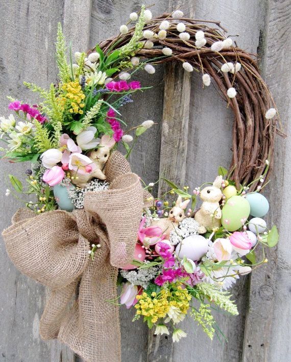 16-easter-wreaths-with-spring-flower-small-apartment-room-decor-idea-20