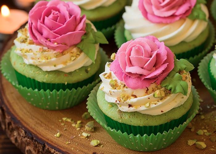Pistachio-Cupcakes