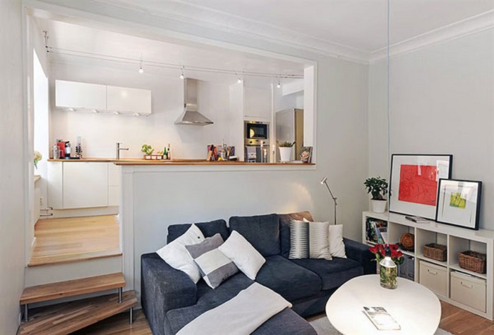 Интерьер студии квартиры фото реальные 30 квадратов