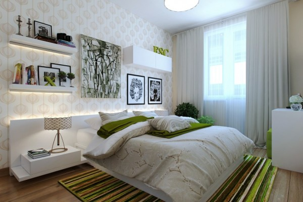 5-Green-white-bedroom-600x399