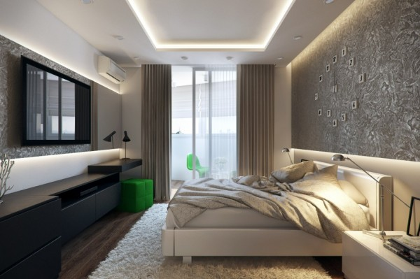 9-White-green-black-bedroom-600x399