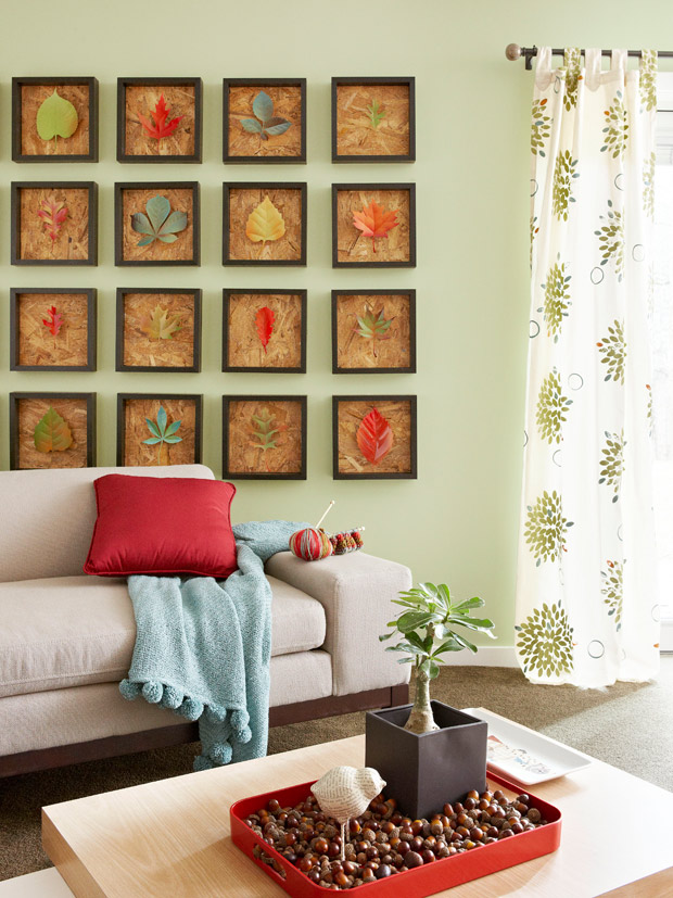 Framed-Leaf-Collection-Modern-Art-Ideas – копія