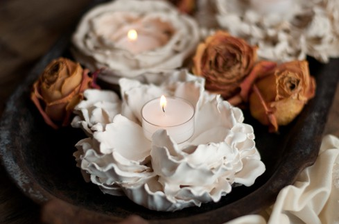 Plaster-Flower-Votives-9