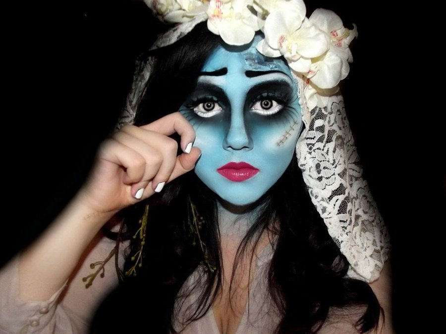 corpse_bride_halloween_make_up_by_kikimj-d4c8700