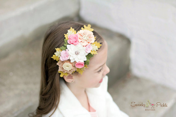 felt-flower-headband-peach-pink-ivory-gold-baby-girls-womens-headband-flower-girl-headband-garland-headband-wedding-hair-accessory