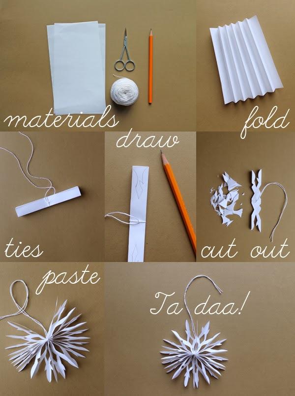 paper snowflakes step
