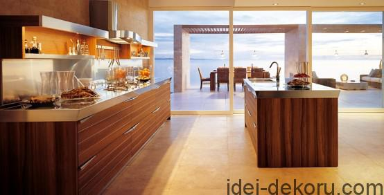 25-Cool-Modern-Kitchens-In-Wooden-Finish-With-modern-wooden-kitchen-countertop-and-island-design