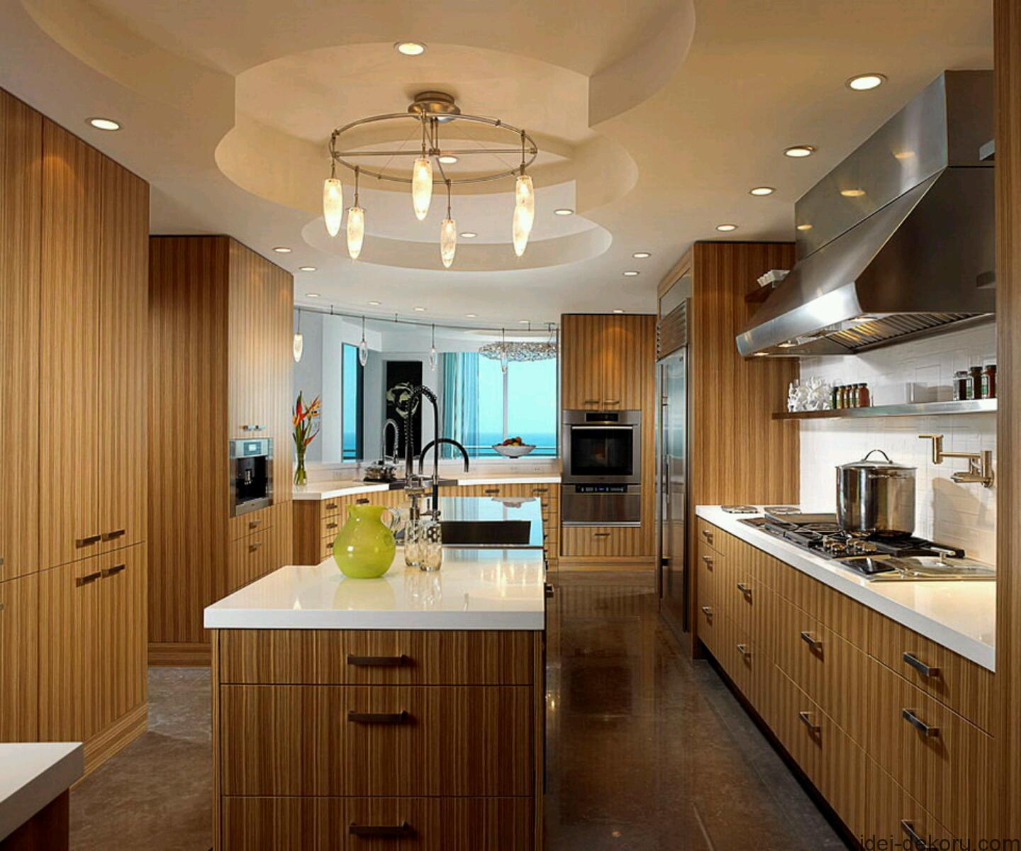 Modern wooden kitchen cabinets designs. (2)