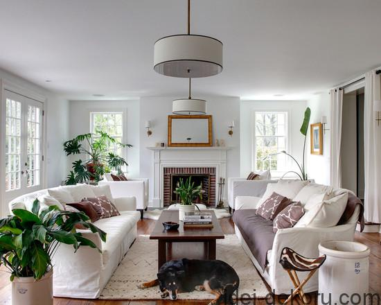 Fascinating Living Room White Sofa Historic Clapboard Hill